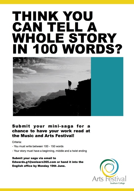 Think you can tell a whole story in 100 words? | Southam College